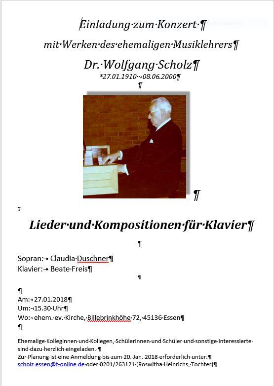 Einladung Konzert Scholz